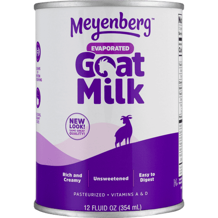 (3 Pack) Meyenberg Evaporated Vitamin D Goat Milk, 12 fl oz