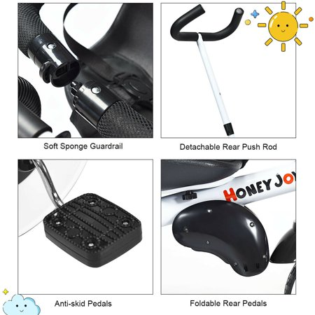 Gymax 4-In-1 Kids Baby Stroller Tricycle Detachable Learning Toy Bike - image 6 de 10