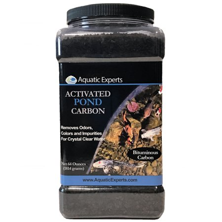 - Activated Pond Carbon 64 ounce bulk container for Outdoor Koi Ponds