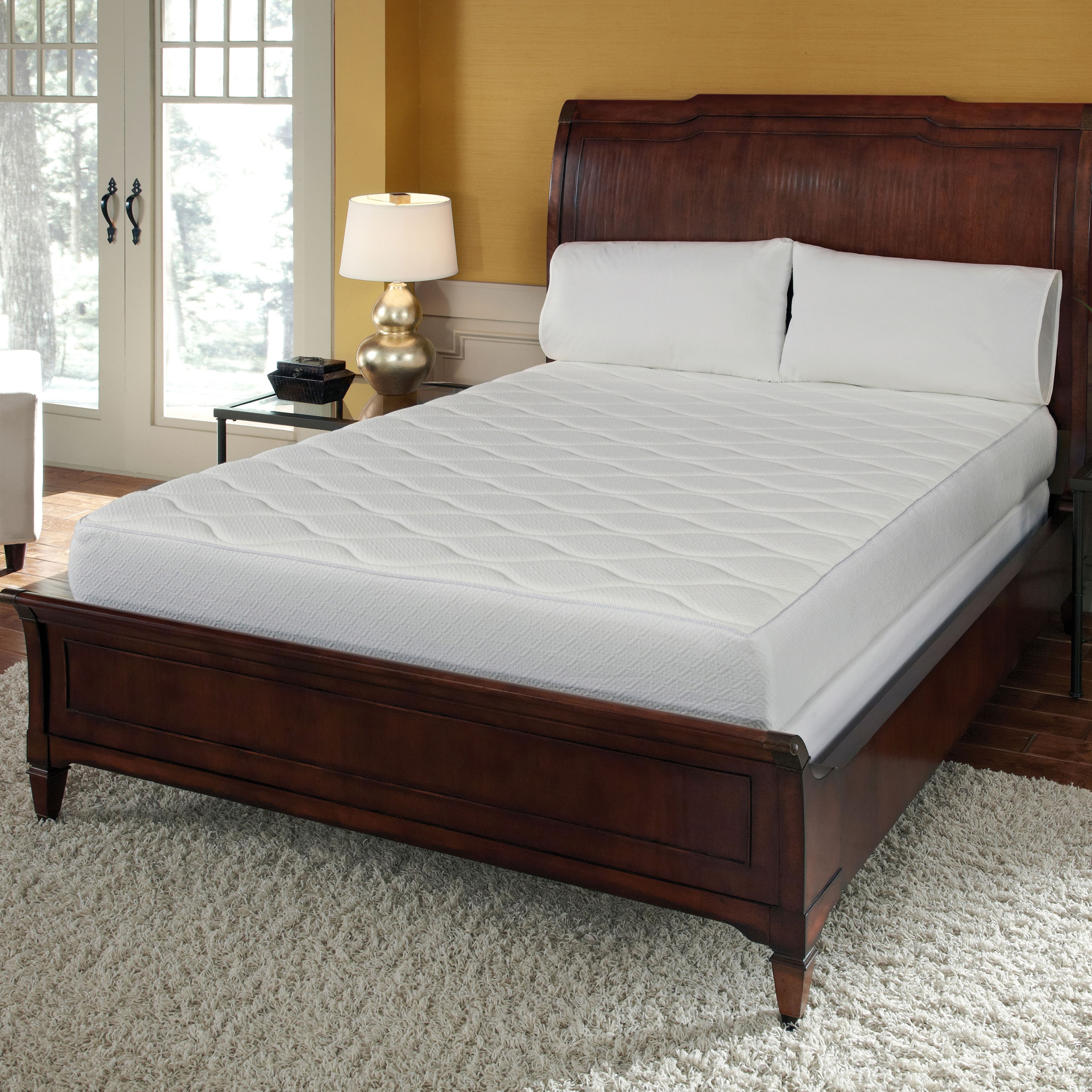 I Love Living Queen 10-inch Memory Foam Mattress with Quilted Top