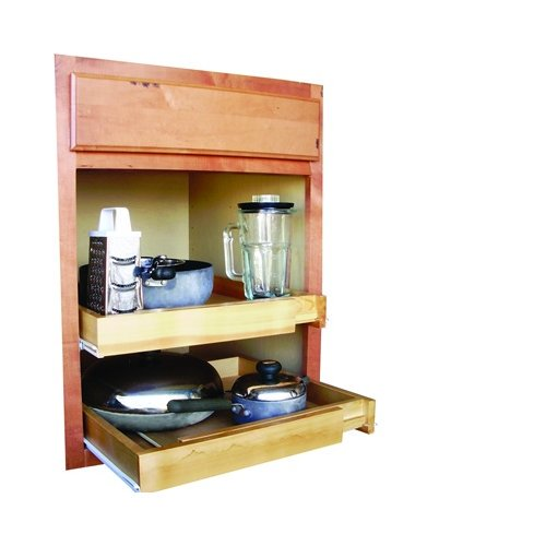 Bamboo Expandable Kitchen Cabinet Pull Out Shelf