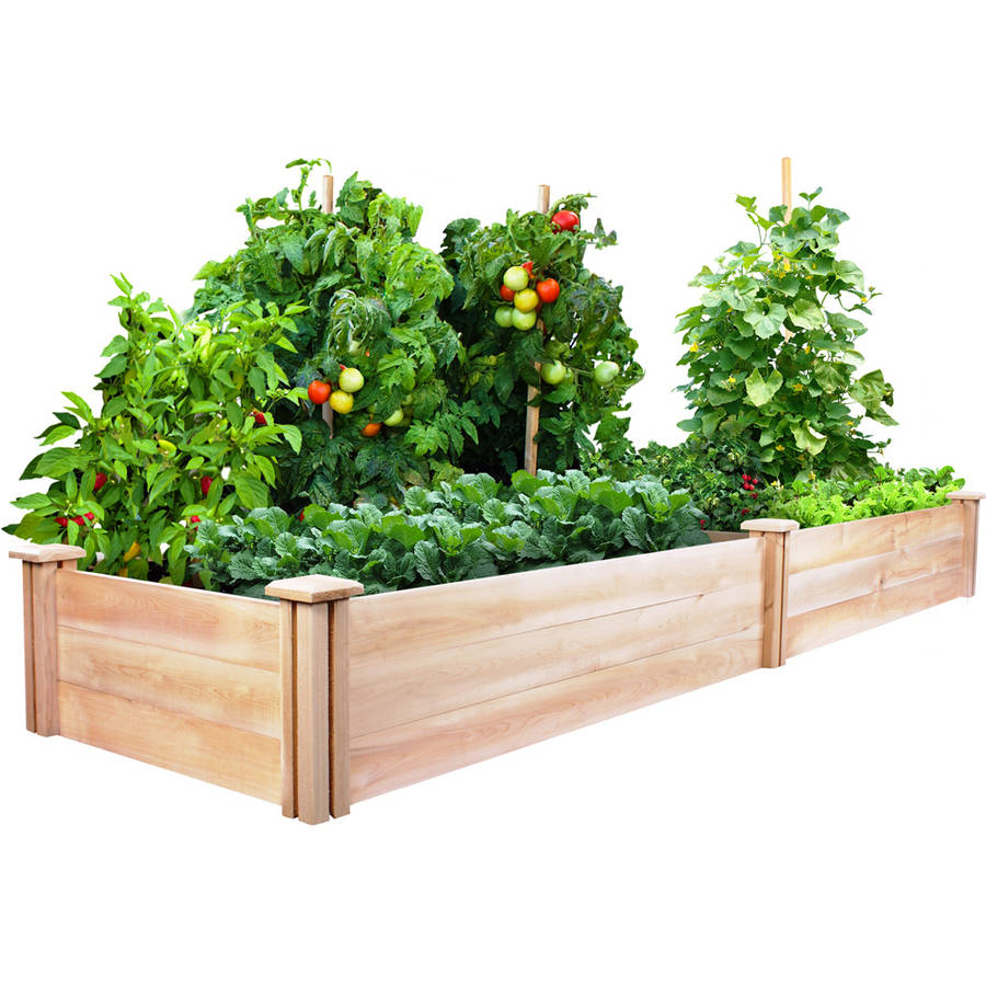 "Greenes Fence 2' x 8' x 10.5"" Cedar Raised Garden Bed"