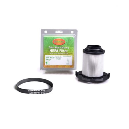 Dirt Devil Upright Vacuum Cleaner Style F-16 Hepa Filter With One Style 5, Featerlight Flat