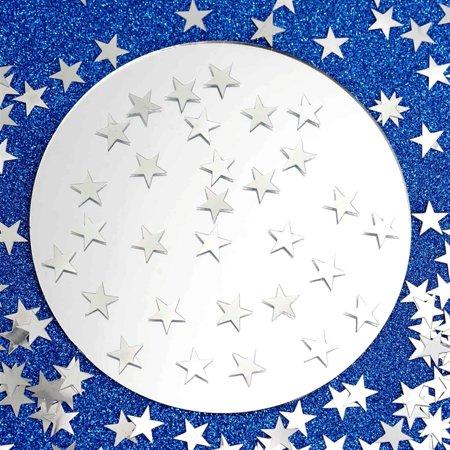 Foil Confetti (Silver Twinkling Metallic Foil Star Confetti Sprinkles For Party 300pcs/pk 2PK)