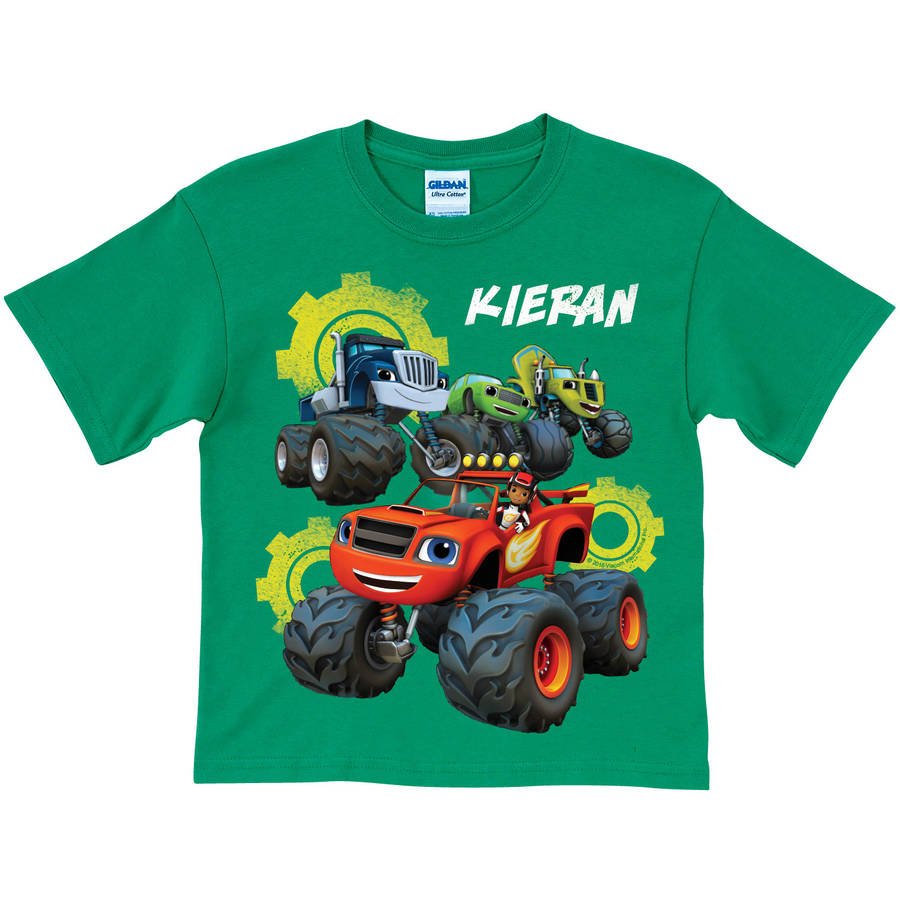 Personalized Blaze and the Monster Machines Team Green Toddler Boy T-Shirt