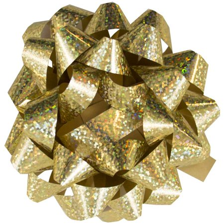 JAM Gift Bows, Speckled Gold, 12/Pack, Small, 3.5 In (Amber Bows)