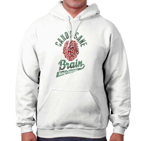Candy Cane Brain Merry Christmas Presents Hoodie