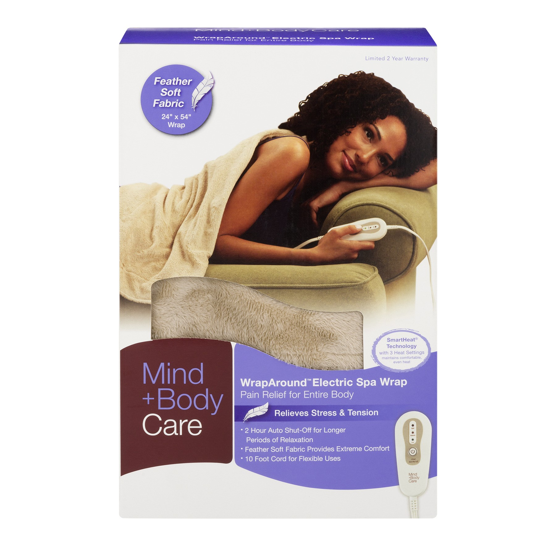 Mind+Body Care WrapAround Electric Spa Wrap, 1.0 CT