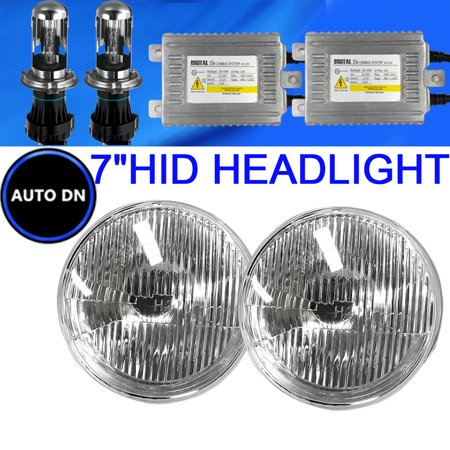 H4 Hid Light Bulbs 10000K Blue 7  Headlight 2X Hi Lo Beam For 1969 Peugeot