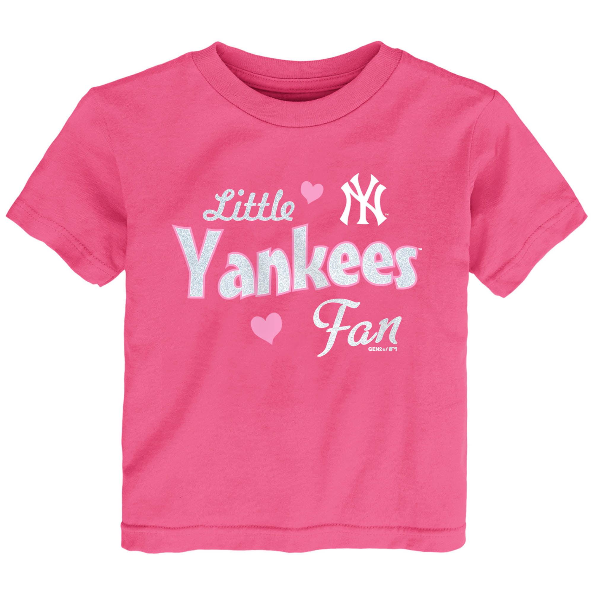 New York Yankees Girls Toddler Fan T-Shirt - Pink