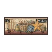 Country Welcome Sign Plaque with Pegs