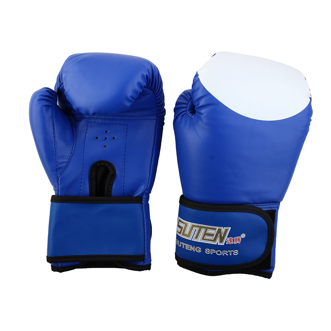 SUTENG Authorized Adult PU Sparring Punching Bag Mitts Kickboxing Boxing Gloves Pair Blue