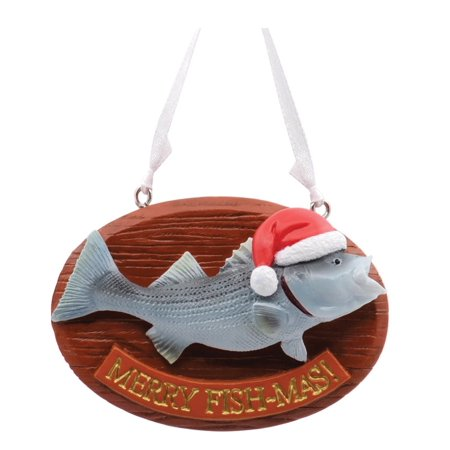 Hallmark 1HAJ1185 Merry Fish-Mas Christmas Tree Ornament, Multicolored - Hallmark Halloween Merry Miniatures