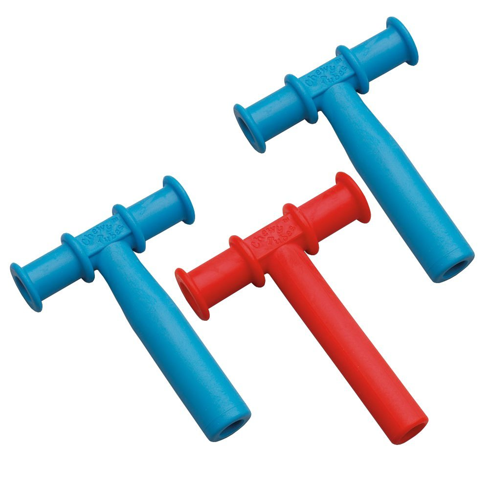 Chewy Tubes Teether, 3 Pack - Blue/Red/Blue