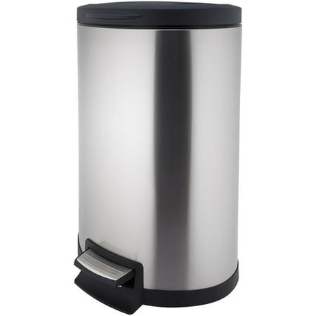 Better Homes and Gardens 45 Liter Semi Round Step Trash Can  Stainless Steel. Better Homes and Gardens 45 Liter Semi Round Step Trash Can