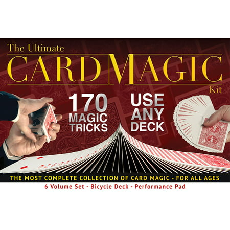 Ultimate Card Magic Kit, 170 Magic Tricks for Adults or Kids, Includes a Bicycle Deck and Professional Performance Pad (Halloween Party Magic Tricks)