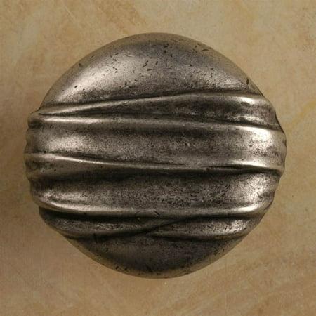 Hannah circle knob Set of 10 Pewter Bright