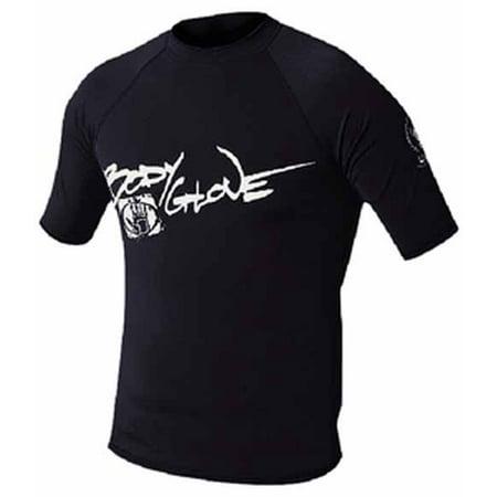 Body Glove 1210XSAA  1210XSAA; Basic Mens Short Sleeve Lycra Xs Black Rash Guard Rashguard
