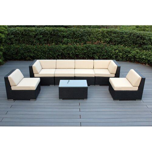 Orren Ellis Barneveld 7 Piece Sectional Seating Group with Cushions