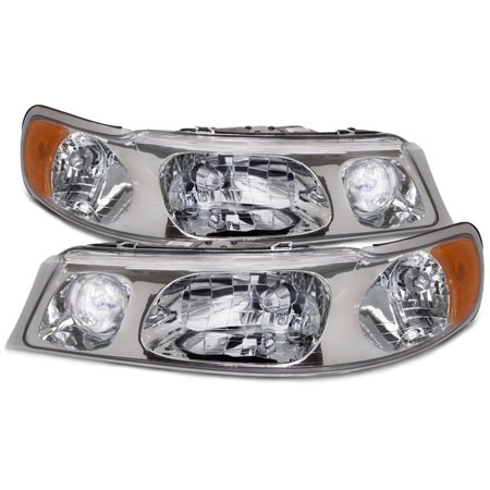 1998-2002 Lincoln Town Car Halogen Headlights Set FO2502158 &