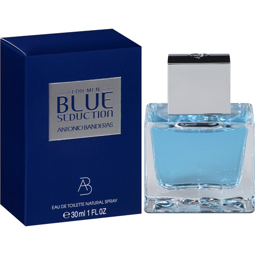 Antonio Banderas Blue Seduction for Men Eau de Toilette Spray, 1 fl oz