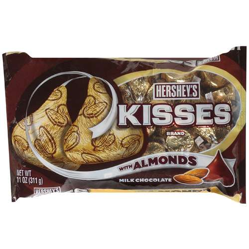 Kisses Milk Chocolate with Almonds Candy, 11 oz