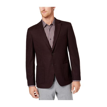 Michael Kors Mens Stretch Two Button Blazer Jacket burgundy 48 - image 1 de 1