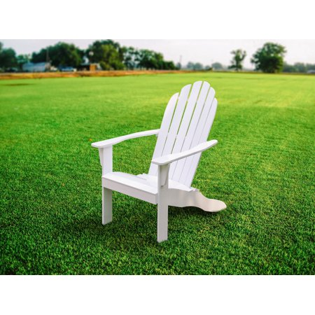 Mainstays Wood Outdoor Adirondack Chair, White