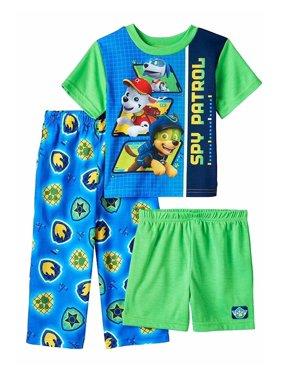 Paw Patrol Baby Boys 3 piece Pajamas Set, Blue, Size: 4T