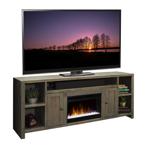 Loon Peak Columbus 84'' TV Stand with Fireplace