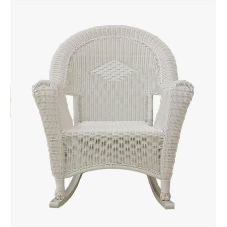 Super White Resin Wicker Rocking Chair Patio Furniture Creativecarmelina Interior Chair Design Creativecarmelinacom