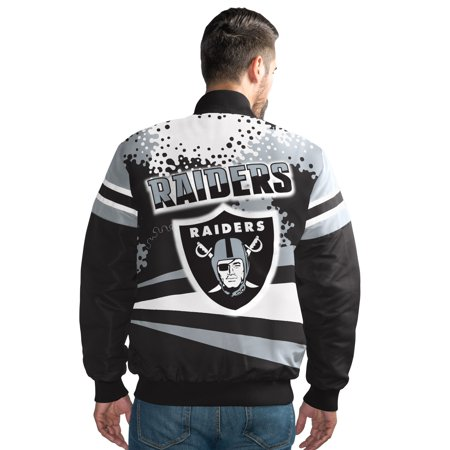 Oakland Raiders Men's Extreme Black Alpha Full-Snap (Oakland Raiders Jacket)
