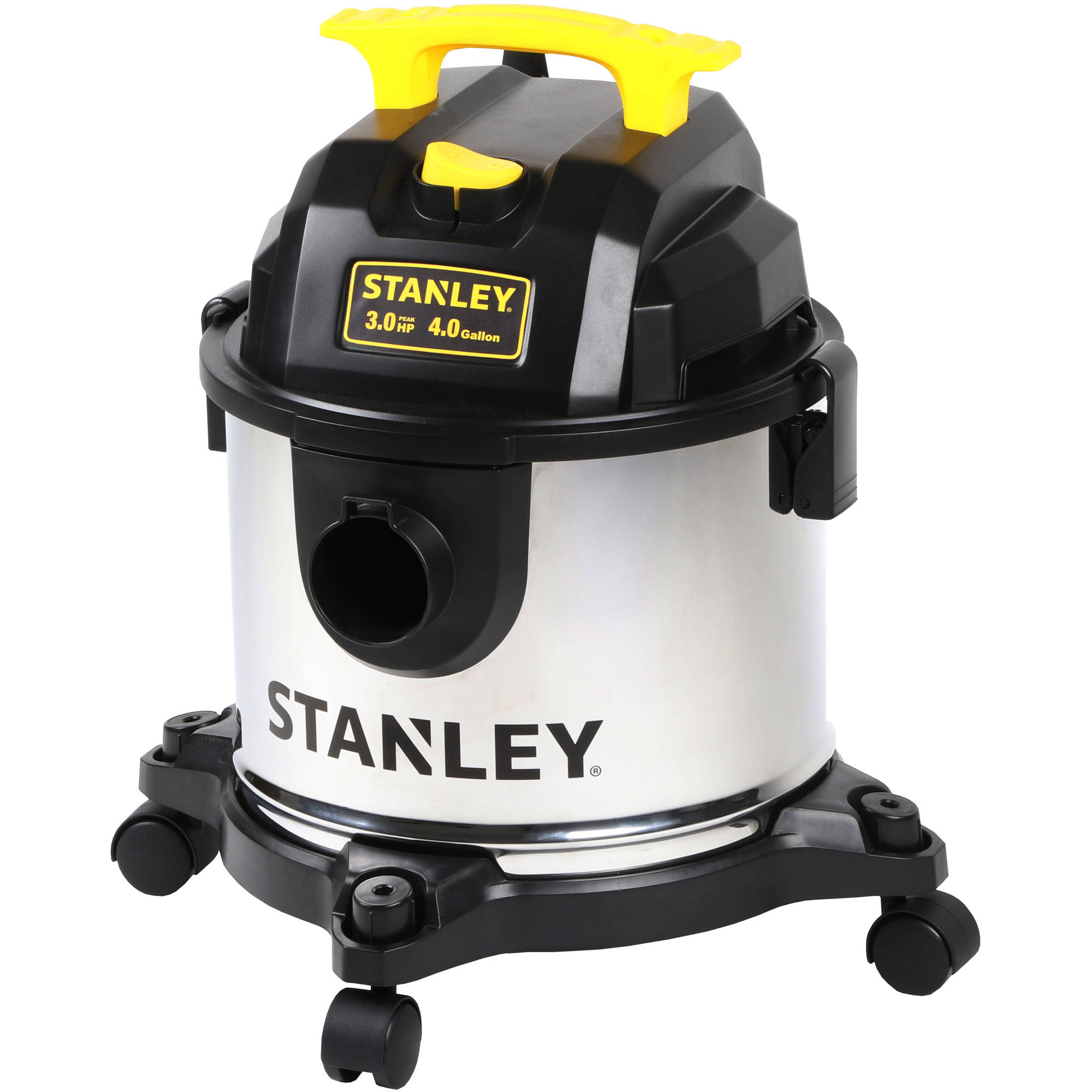 Stanley 4-Gallon Stainless Steel Wet/Dry Vacuum, SL18301-4B