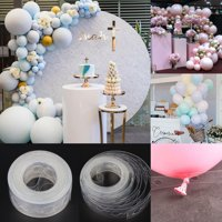 TSV 2Pcs 16.4Ft Balloon Garland & Balloons Arch Decorations Strip, | Double Hole Balloons Tape Strip | For Baby Shower Bridal Girls Birthday Party Decorations Supplies Decorating Strip