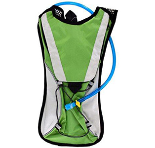 Kole Import Hydration Green Backpack 2L Bladder Flexible Drinking Tube Nylon by