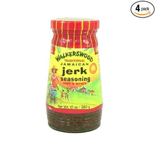 Walkerswood Jamaican Jerk Seasoning Hot, 10-Ounce Bottles (Pack of 4)