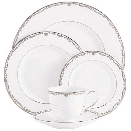 Coronet Platinum Bone China Salad Plate, Salad plate of 8-inch diameter By