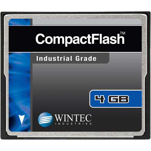 Wintec Industrial Grade SLC NAND 4GB CompactFlash Card, Black