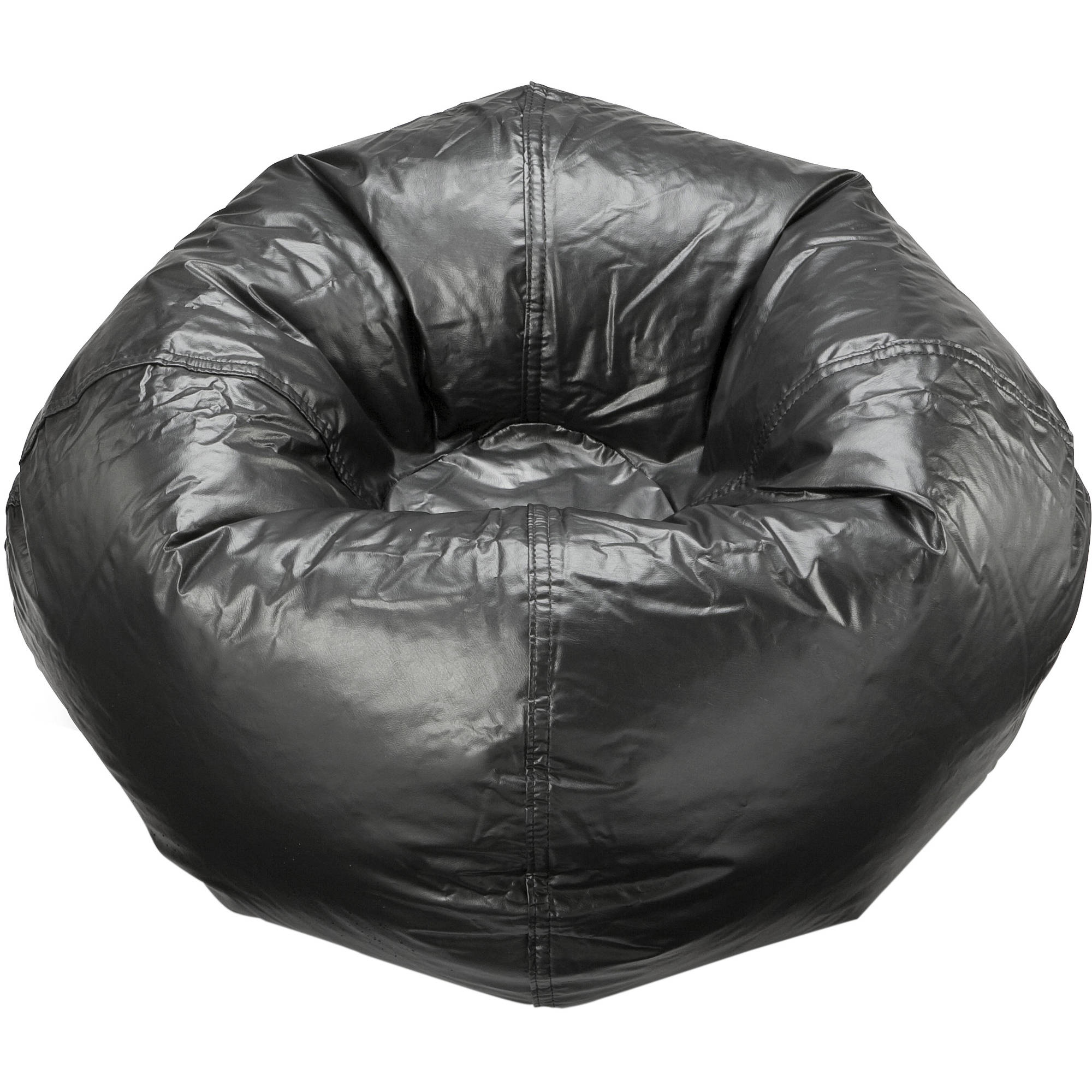 "96"" Round Vinyl Matte Bean Bag, Multiple Colors"