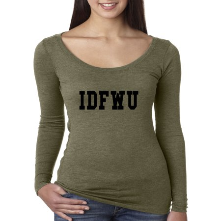 New Way 311 - Women's Long Sleeve T-Shirt Idfwu [Black Text] Big Sean