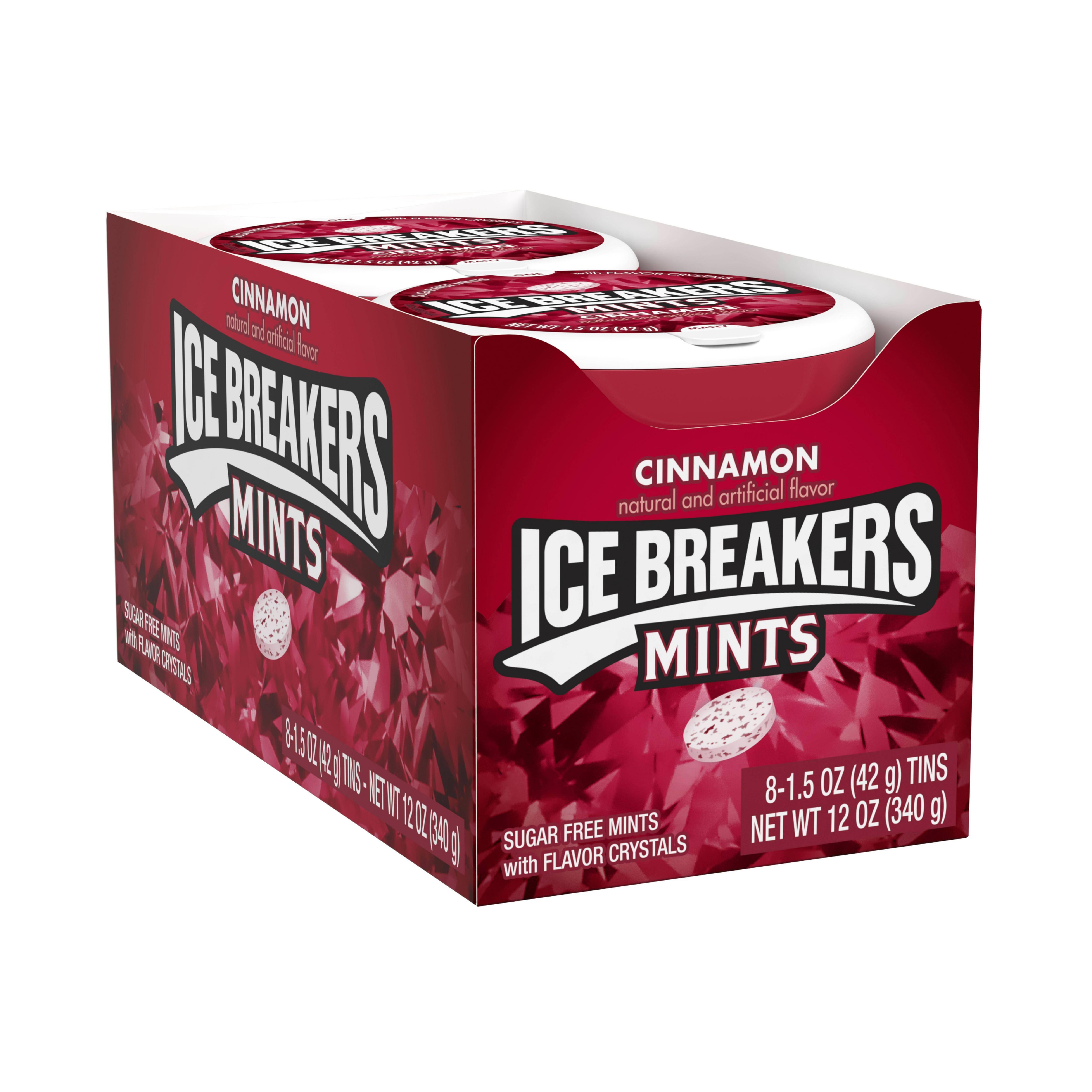 Ice Breakers, Sugar Free Cinnamon Breath Mints, 1.5 Oz, 8 Ct