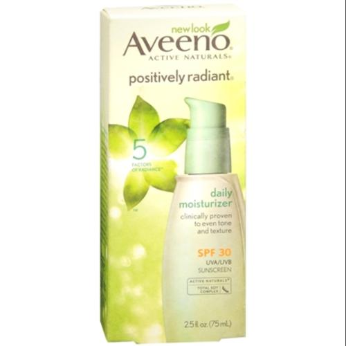 AVEENO Active Naturals Positively Radiant Daily Moisturizer SPF 30 2.50 oz (Pack of 4)
