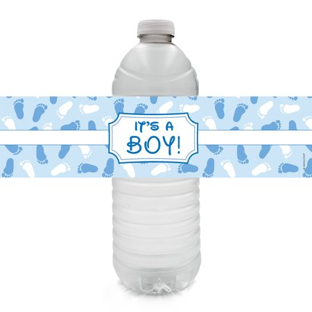 It's A Boy Baby Shower Party Water Bottle Sticker Labels (Set of 20)