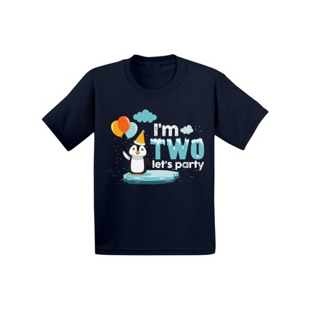 Awkward Styles Infant Shirt Penguin Shirts 2nd Birthday Themed Party Penguin Tshirts for Boys Tshirts for Girls Gift for 2 Year Old Cute Penguin 2nd Birthday Shirt Boy Infant Girl Kids Funny Penguin - Best Gift For 2 Yr Old Girl