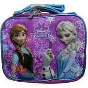 Frozen Ice Princess Anna Elsa Cloth Insulated Lunch Box Case Tote Bag - Purple