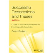 Jossey-Bass Higher and Adult Education Series: Successful Dissertations and Theses: A Guide to Graduate Student Research from Proposal to Completion (Paperback)