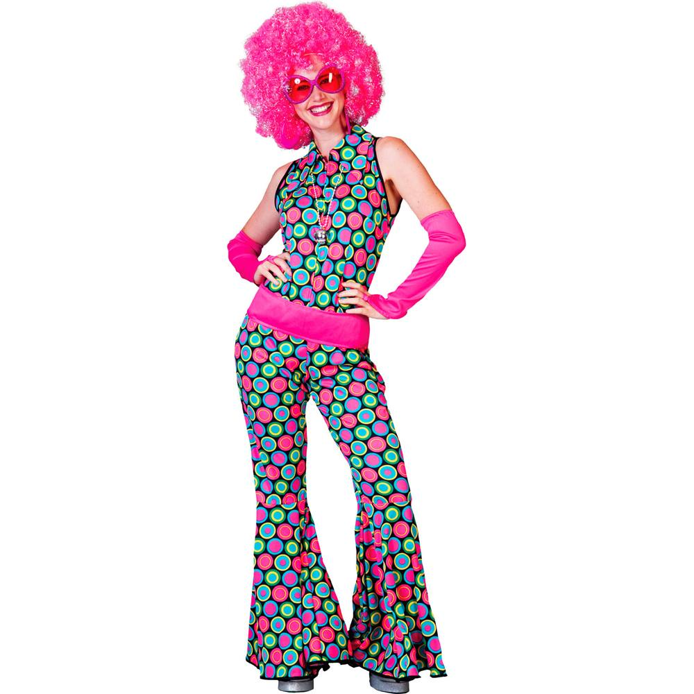 Polka Dot Disco Hippie Jumpsuit Adult Costume
