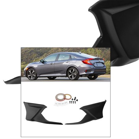 For Civic FC1 4 Door Sedan 2016-2017 Rear Spoiler Lip Aero Kit Modulo Style Trim Under Spoiler Aero Kit