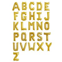 Product Image Efavormart 16 Shinny Gold Foil Balloons Letter For Wedding Party Decorations Graduation New Year