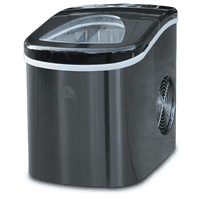 Igloo Ice Maker Counter Top 26 lbs ICE117-SSBLACK Stainless Steel Black - Manufacturer Refurbished